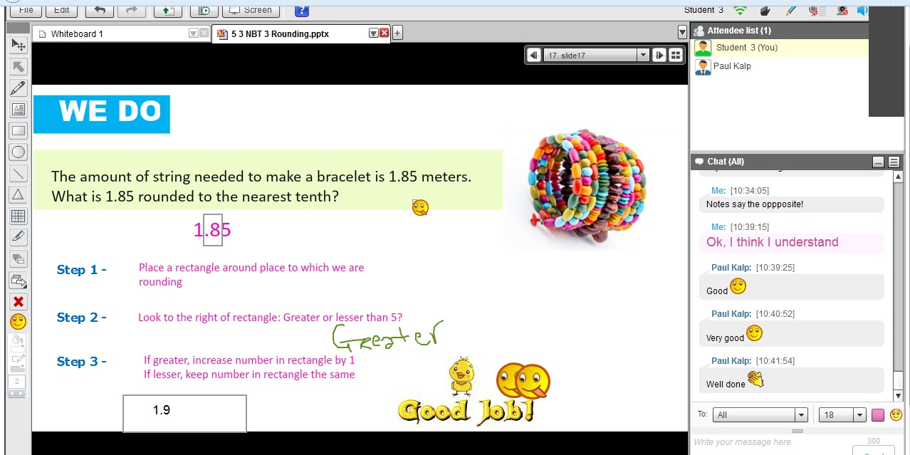 Image: FEV Virtual Tutoring Math Session